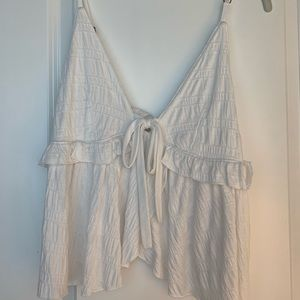 White Free People Top with Tie